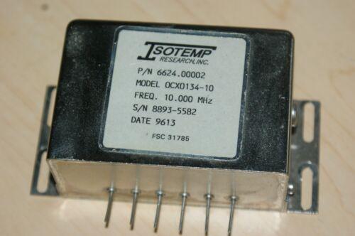 Isotemp 10 MHz Ovenized 10 MHz Oscillator  OCXO 134-10 12 VDC Sine Wave Output