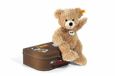 Steiff Fynn Teddybär im Koffer beige, Kuscheltier, Bär, Teddy, 111471
