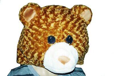 Womens Mens Adult Big Kids HEAD TEDDY BEAR Costume Mask Halloween Purim M L NEW](Big Head Costumes Halloween)