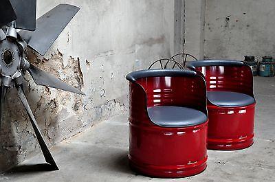 Fass Sessel  aus 200l Fass Ölfass Blechfass Barrel Farben nach Wahl