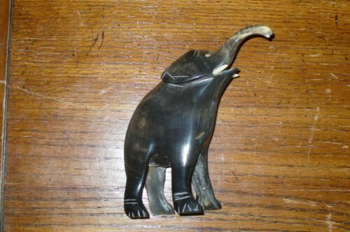 Vintage Elephant Carved from Horn