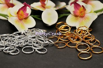 144 PCS Mini Gold Silver Wedding Ring Decorations Table Scatter Confetti Crafts