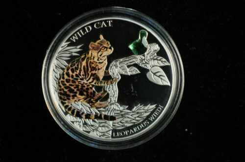 2013 $2 1oz. Silver Fiji Two Dollar Wiedi Wild Cat Silver Proof Coin /V4