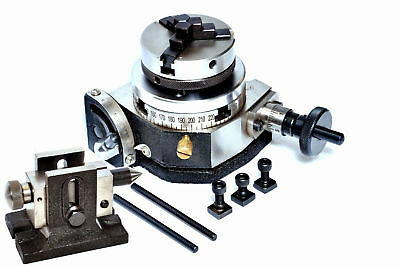 Rotary Table 3 Tilting With Back Plate With 50 Mm Chuck Tailstock