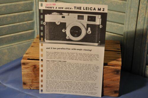 Vintage Collectible 1958 Leica M2 Camera Advertisement Page E. Leitz