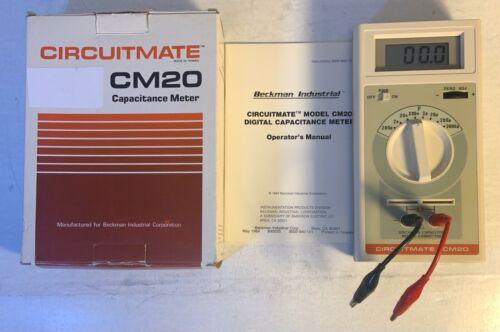 BECKMAN INDUSTRIAL CORP CIRCUITMATE CM20 CAPACITANCE METER MINT IN BOX