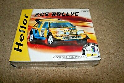 HELLER 71231 PEUGEOT 205 RALLYE 1/43 MODEL CAR MOUNTAIN FACTORY SEALED NEW