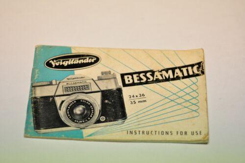 Voigtlander Bessamatic instruction manual in English.