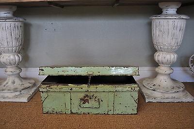 Vintage Light Green Metal Trunk Storage Trunk case