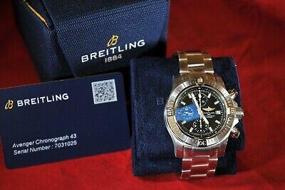 Breitling Avenger Chronograph 43 A13385 - Unworn - 4 Months Old