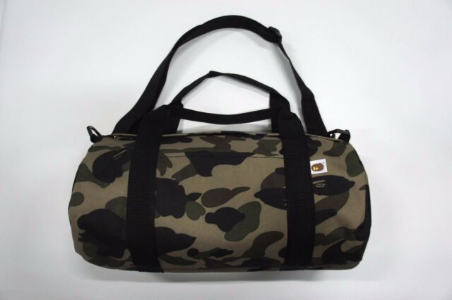 a Bathing Ape BAPE Green Camo Travel Gym Sport Duffle Shoulder Bag ...