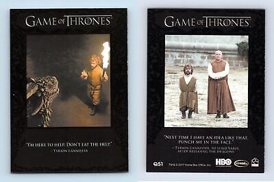 Tyrion Lannister#Q51 Quotable Game Of Thrones Season 6 Rittenhouse Trading Card