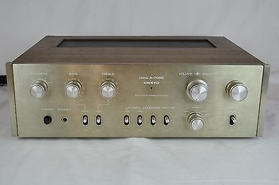VINTAGE ONKYO A-7055   Stereo Integrated Amplifier for Parts/Repair