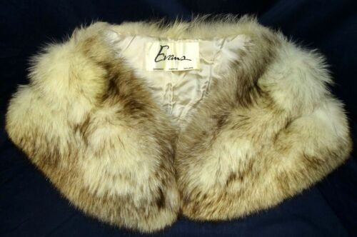 EVANS Glamorous Norwegian Blue FOX White Fur Stole Shoulder Wrap w/ Hook Closure