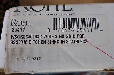 Rohl, Sink Grid,White (WSGR3016SC) Fits RSS3016 Sainless kitchen sink Rohl Sink Grid