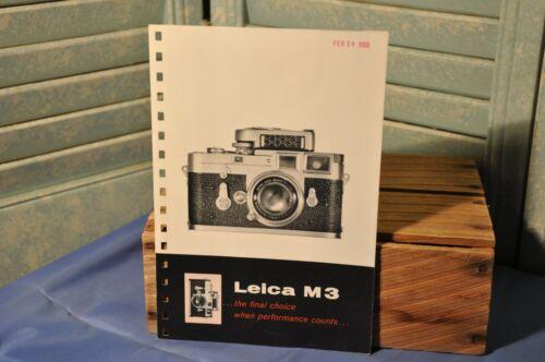 Vintage Collectible 1957 Leica M3 Camera Advertisement For Binder E. Leitz