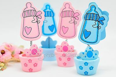 6 Baby Shower Decorations Bottles Favors Card Holders Gifts Supplies Girl - Girl Baby Shower Gifts