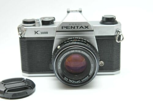 Pentax Asahi K1000 35mm SLR Film Camera W/SMC M 50mm F2 Lens