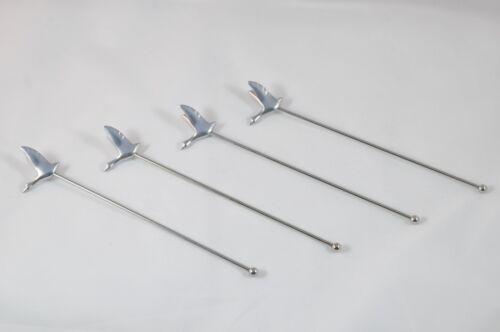 Grey Goose Long Metal Stir Rod Stirrers Swizzle Sticks Set of 4