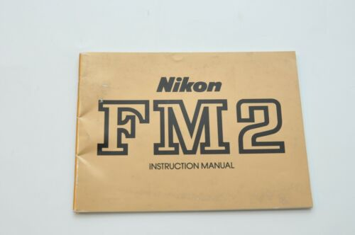 Nikon FM2 Camera Instruction Manual /Gold/ User Guide Booklet