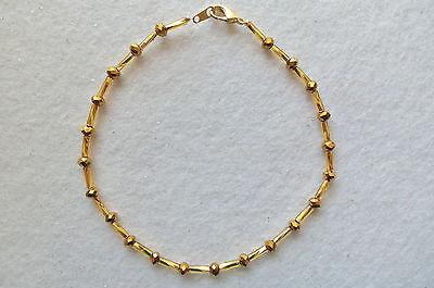"ANKLE BRACELET GOLD PLATED GOLD CRYSTALS ANKLET NEW 9½"""