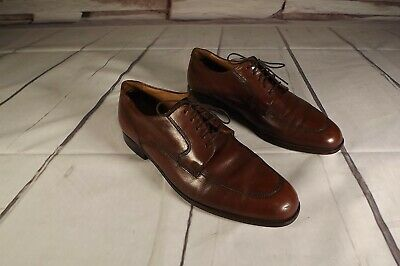 Florsheim Mens Brown Leather Tie Up Dress Shoes Size 9 E Brown Shoe Leather Tie