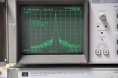 Agilent Keysight HP 8566B Spectrum Analyzer 100Hz-22GHz test with cables