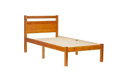 100% Solid Wood Bronx Platform Twin Bed-in-a-Box by Palace Imports, 3 Colors ()