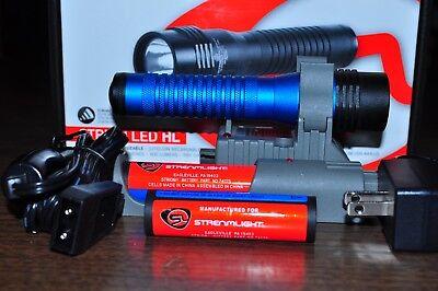 Streamlight Strion Flash Light blue Body 500 Lumens HL 2 Li-ion Batteries 74782 Strion Batterie