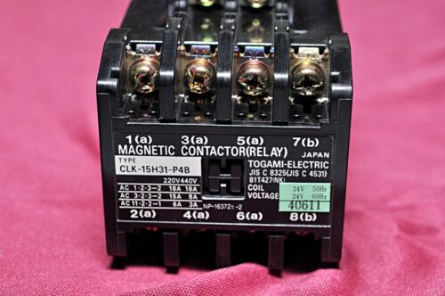 Togami electric clk 15h31b p4b magnetic contactor