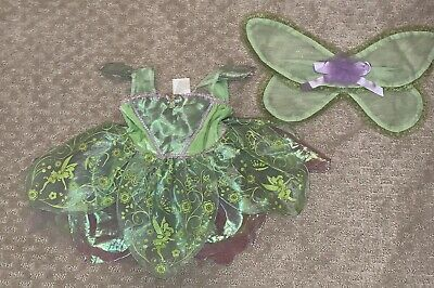 Baby Girl Halloween Costumes 6-12 Months (Girl Disney Baby Green Tinkerbell Dress Halloween Costume Size 6-12)