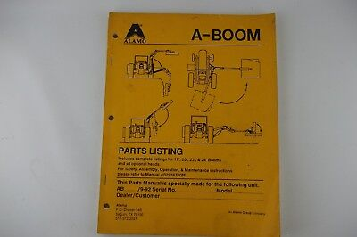 Alamo A Boom 17 20 23 28 Mower Owners Manual Parts List Catalog W Diagrams