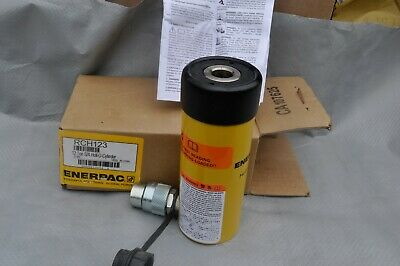 Enerpac Rch-123 Hollow Hydraulic Ram Cylinder Hollow Plunger 12 Ton New