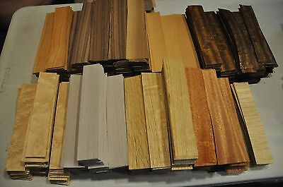 Fingerboard wood veneer - Mix of at least 8 kind, approx. 180 pcs.   IC91