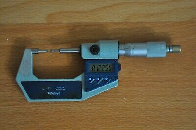 Mitutoyo Digital Spline Micrometer 0-1 Inch Model 331-711-30 Graduation .00005