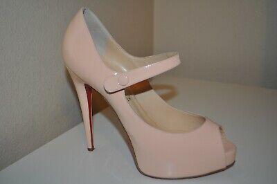 Christian Louboutin Blush Jane Vendome 120 Baby Pink Peep Toe Pump Shoe 40.5-9.5
