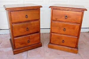 2 x 3 Drawer Wooden Bedside/Side Tables Rothwell Redcliffe Area Preview