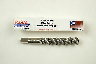 M12 X 1.25 HSG D3 3 FLUTE SPIRAL POINT PLUG TAP J-1-16-3-12