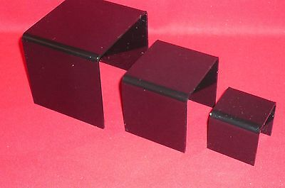 3 -- Black Acrylic Display Riser