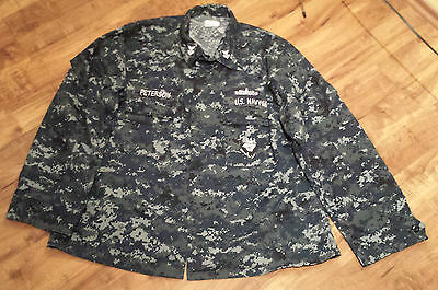 US Navy Arbeitsjacke NWU Typ I Gr. XL/Regular mit Patches
