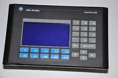 Allen Bradley 2711-k5a8 Ser H Frn 4.41panelview 550 Hmi Keypad Terminal Dh 23