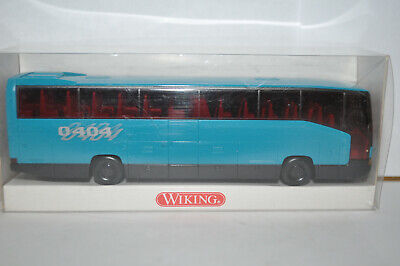 Wiking 714 02 Mercedes Benz 0404 RHD Bus (Blue/Black Color)for Marklin-NEW w/BOX (Gloss Plastic Bus Box)