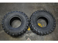 Full Set WANDA ATV tires 22x8-10 Front /& 25x12-9 Rear for 87-95 Yamaha YFM350ER