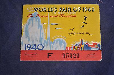 1940 New York Worlds Fair Ticket