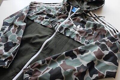 Adidas originals trefoil camo/camouflage windbreaker | M | Green Brown