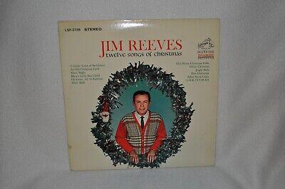 Jim Reeves Twelve Songs of Christmas Vinyl Record! 1963  LSP-2758  FREE SHIPPING Jim Reeves Songs