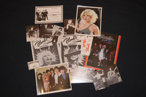 Sampler Lot 1979 Official Blondie Fan Club Debbie Harry 17 items Deborah Harry