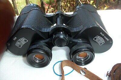 Carl Zeiss Jena  Dekarem 10x50 T3M Binoculars Case Straps