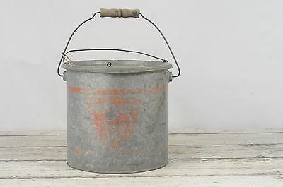 Vintage Falls City Galvanized Metal Minnow Bucket The Anglers Choice