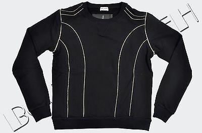 SAINT LAURENT PARIS 990$ Authentic New Black Cotton Zip Detail Sweatshirt sz L